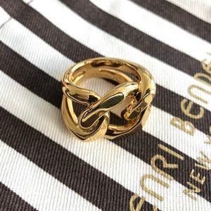 NEW Henri Bendel Metal Link Ring Size 6